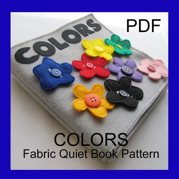 COLORS Fabric Quiet Book - PDF Pattern