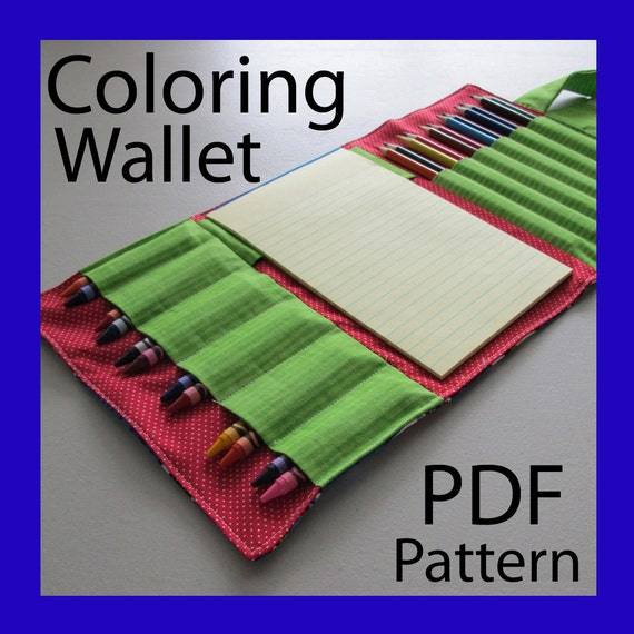 COLORING WALLET - PDF Pattern