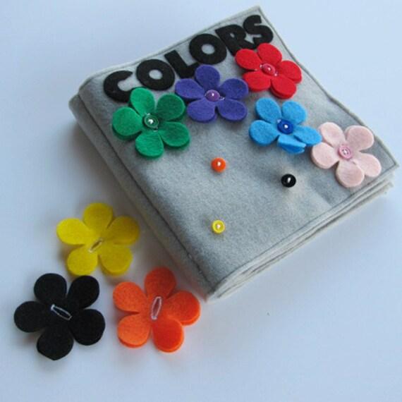 Items similar to quiet book colors fabric quiet book for The idea door quiet book