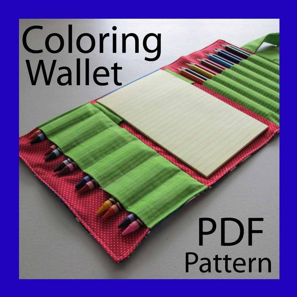 COLORING WALLET PDF Pattern