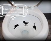 potty training Taking Aim toilet targets dinosaur 6 piece collection: tyrannosaurus rex, pterodactyl, brachiosaurus etc