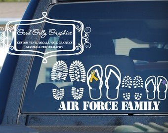Military decal stick family Proud military family vinyl vehicle decal