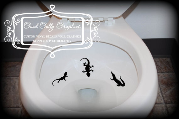 Taking Aim toilet targets REPTILE 6 piece collection: frog, lizard, turtle, snake etc