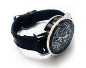 Steampunk Mechanical Standard Handmade Leather Watch Band w/ Watch FREE SHIPPING (08J-2)