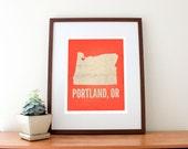 Portland, OR Love Art Print