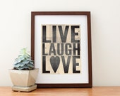 "Live, Laugh, Love Print 8"" x 10"""