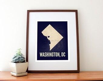 Washington, DC Love Print