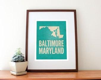 Baltimore, Maryland Love Print