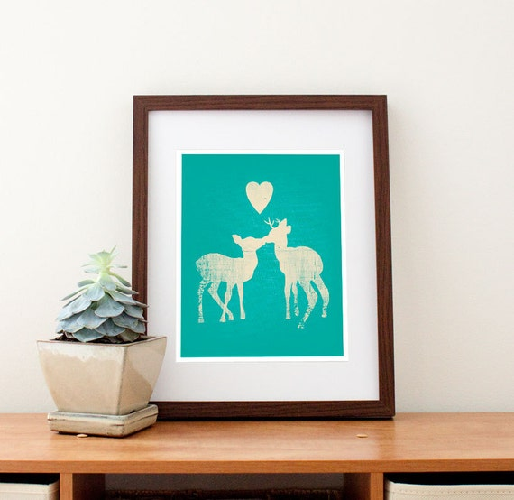Deer Love Art Print