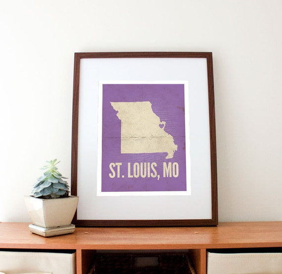 "St. Louis, Missouri Love Print, 11"" x 14"""
