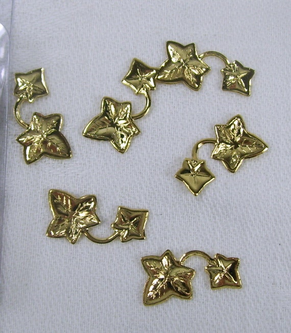 150 New Pieces Gold Plated Accent Findings Beading Ivy Leaves Vines