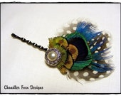 LAILA  feathered hair pin