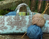 Take along project bag - Blue toile