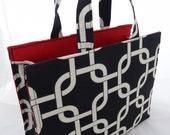 """Black/White Medium """"Essentials"""" Bag"""