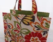 """Natural/Floral Medium """"Essentials"""" Bag"""