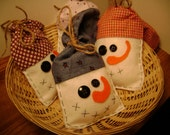 SALE Pick TWO Snowmen - Christmas Winter Time Tree Plush Ornament