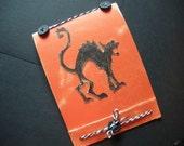 Halloween Cat Journal, Black Cat, Pocket Jotter, Spell Book