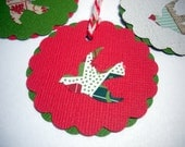 Christmas Gift Tag Assortment, Red, Green, White, Birds