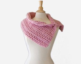 SALE  Pastel Pink Wool Blend Cowl, Winter Fashion Accessories