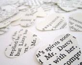 Pride and Prejudice Wedding confetti . Pride and Prejudice Book Confetti . Mr Darcy . jane austen books . Pride and Prejudice quote