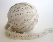 Personalized Ribbon 4 yards / rustic wedding decor custom ribbon