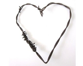 Popular Items For Barbed Wire Heart On Etsy