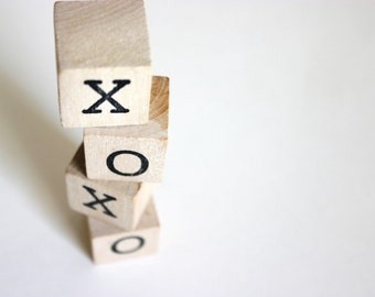 XOXO . wooden blocks / xo . hugs and kisses . wood blocks . xoxo sign . wood blocks baby