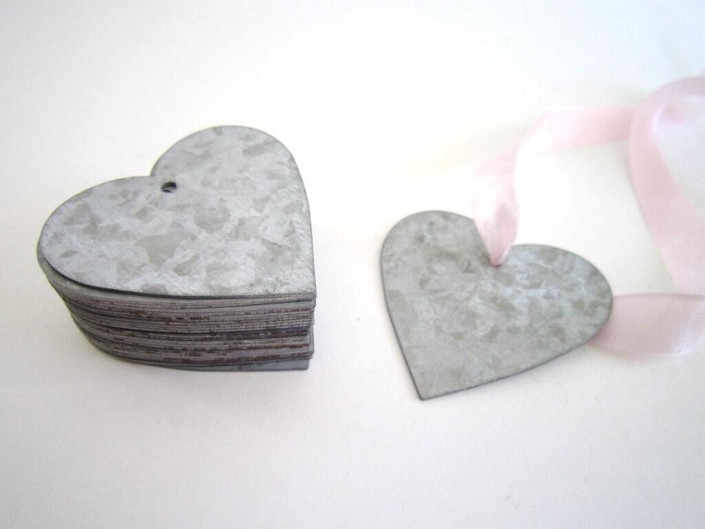 Metal heart ornaments -  8 75