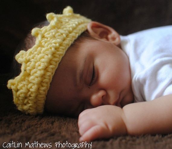 Instant Delivery Crochet Princess Tiara or Prince Crown  sizes preemie newborn thru toddler Photo  Props  Pdf  Pattern 127 Instructions