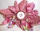 Accessory Flower Clip in Pink, Purple, & Maroon