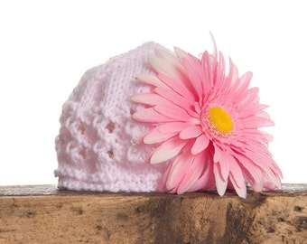 Beanie with Removable Flower Made to Order