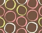 SAVE 40 percent - Pink Circles - Monaco by Monaluna Organic Cotton Fabric