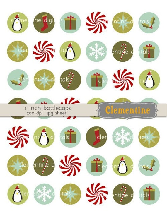 Christmas Bottle Cap Images Bottlecap Images One Inch