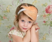 Peach and White Vintage Glamour Feather Headband