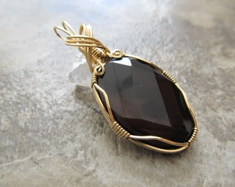 Wire Wrapped Pendant Brazilian Dream Agate & Gold Filled Wire - One of a Kind - Wirewrapped Wire-Wrapped