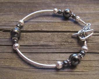 Hematite Bracelet in Silver
