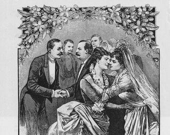 Vintage Wedding Ads- Victorian Era- Steampunk Matrimony