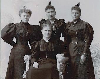 Steampunk Women Photos- 3 Vintage Edwardian Portraits- Instant Ancestors