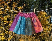 Toddler skirt Purple, Lavender, Teal, Rust, Lilac, Orange, size 4T