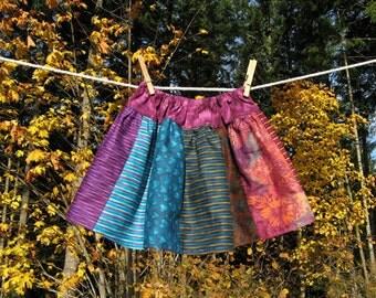 Toddler skirt Purple, Lavender, Teal, Rust, Lilac, Orange, size 4T On Sale
