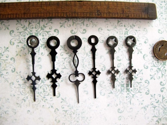Vintage Clock Hands - Perfect for Steampunk Jewelers, Altered Art Artists and Mixed Media Mavens (ch252)