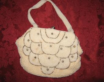 Pearl and rhinestone studded bag
