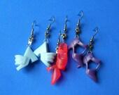3 Pair BARBIE Shoe Earrings - Baby Blue / Pink / Purple - Retro Funky Kitsch Trendy  - FREE Barbie Shoe Zipper Pull Charm & Gift Wrap