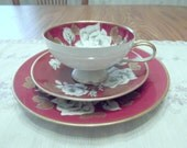 German cup and saucer in a trio set by Rudolf Wachter- Circa 1927-1930's-  DS