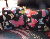 Throw Pillow: Handcrafted 13 x 12 Butterfly Pillow
