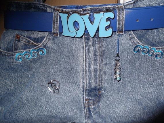 It's True Blue Handmade Medium Blue Jean/Denim Hobo Handbag
