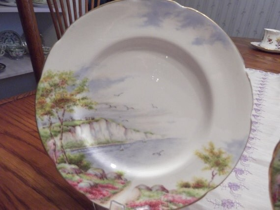 """6 3/4""""D  B&B Plate by Paragon titled """"Cliffs of Dover""""- Circa 1950's  -DS"""