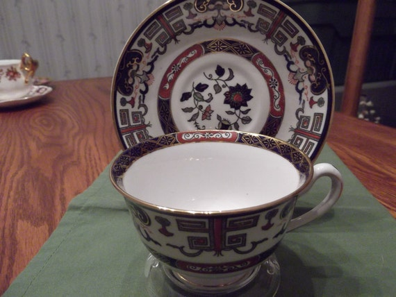 50% OFF-  Handpainted Imari Design cup and saucer made in Occupied Japan circa 1945-1952-  222
