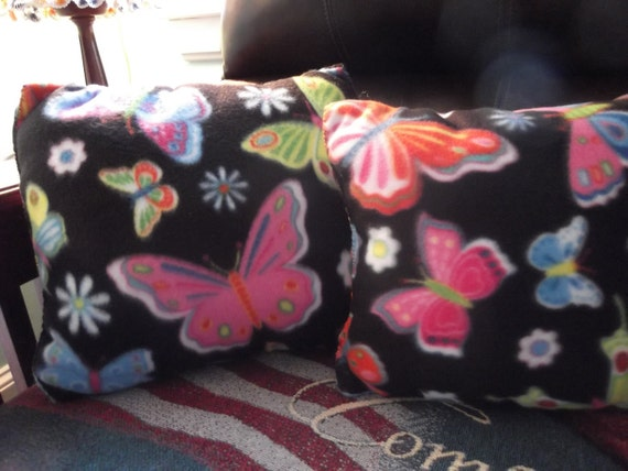 CLEARANCE SALE- Throw Pillow: Handcrafted 15 x 13 Butterfly Pillow