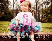 Sassy Tutu in Hot Pink, Turquoise and Black